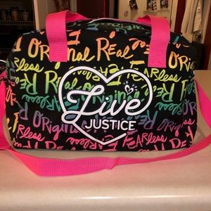 🆕 Justice graffiti overnight bag